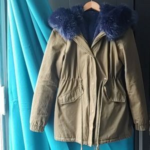 Jackets & Blazers - Italian Vegan Fur Utility Coat